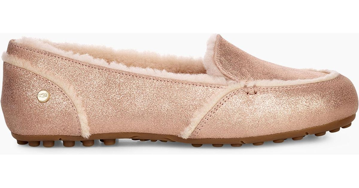d72cf173d8a Lyst - UGG Hailey Metallic Loafer Hailey Metallic Loafer in Pink