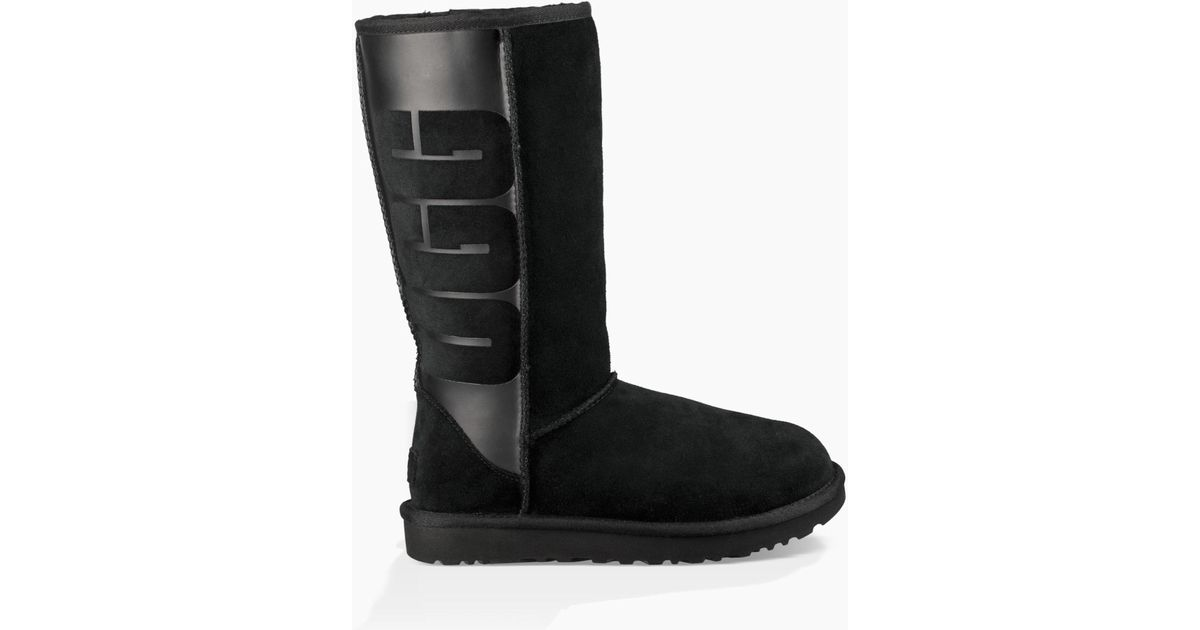 57c349fc7bd3 Lyst - UGG Classic Tall Rubber Boot Classic Tall Rubber Boot in Black