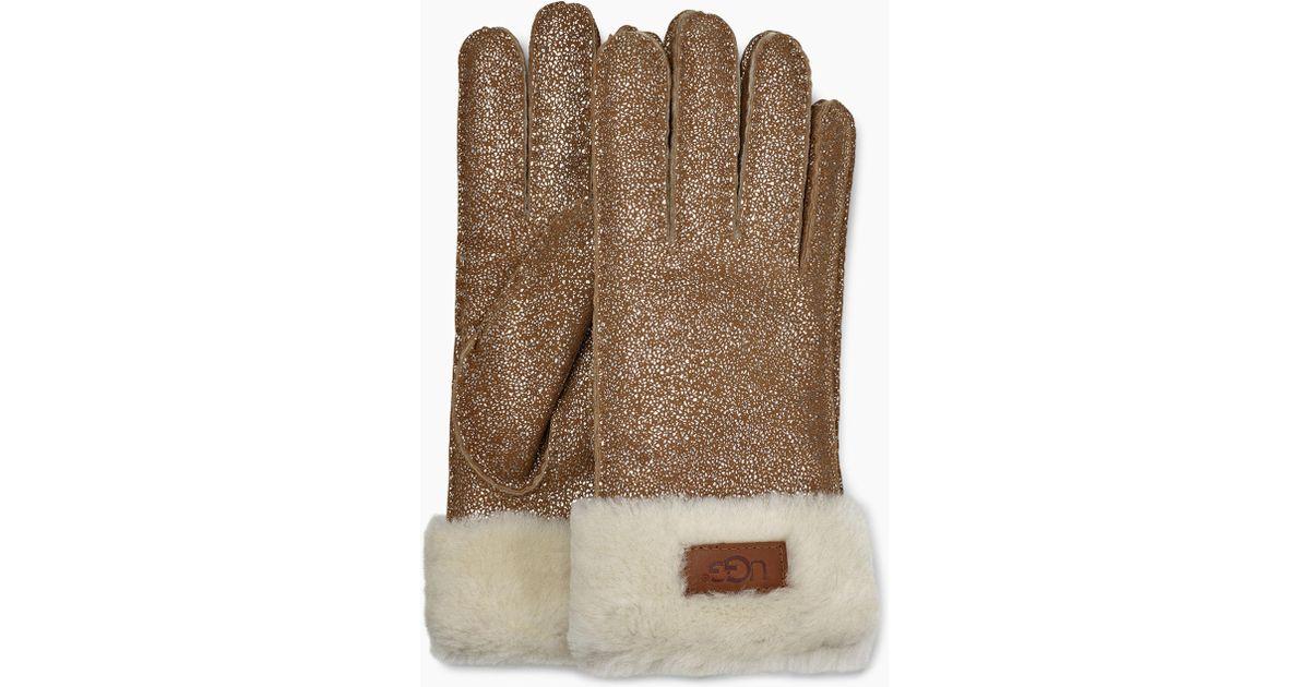 01f5703318b UGG Turn Cuff Glove Turn Cuff Glove in Metallic - Lyst