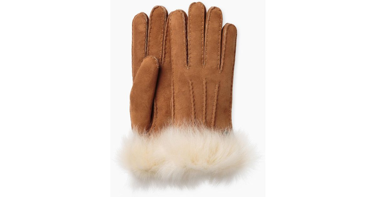 7a69dbaf2123b Lyst - UGG Women s 3 Pt Toscana Glove in Brown