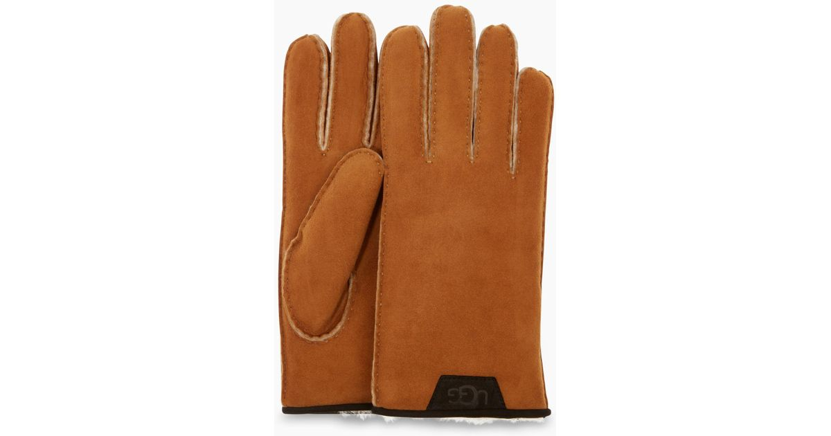 253b2d059cd Ugg - Brown Men's Sheepskin Glove With Leather Trim for Men - Lyst