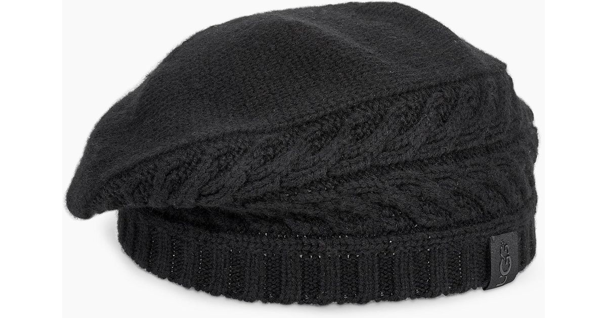 Lyst - UGG Cable Beret Cable Beret in Black 5199a41f13d