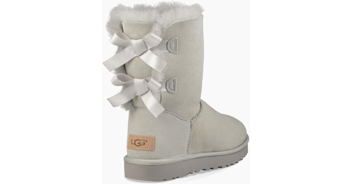 c248b6669a7b UGG Bailey Bow Ii Grey Violet Twinface Boots in Gray - Lyst