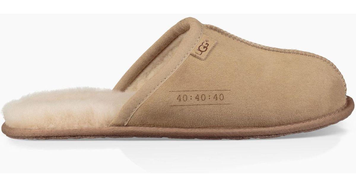 1e8c4acf45a Lyst - UGG Men s Scuff 40 40 40 Slipper in Natural for Men