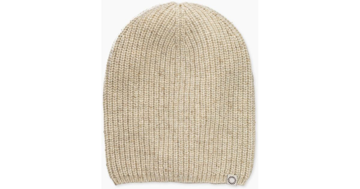 best website b7a40 efad7 UGG Men s Cardi Stitch Slouchy Beanie in Natural for Men - Lyst