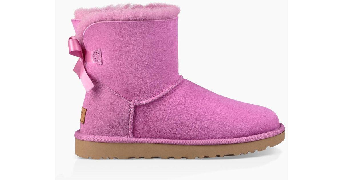 1124e39fe49 Ugg - Purple Women's Mini Bailey Bow Ii Boot - Lyst