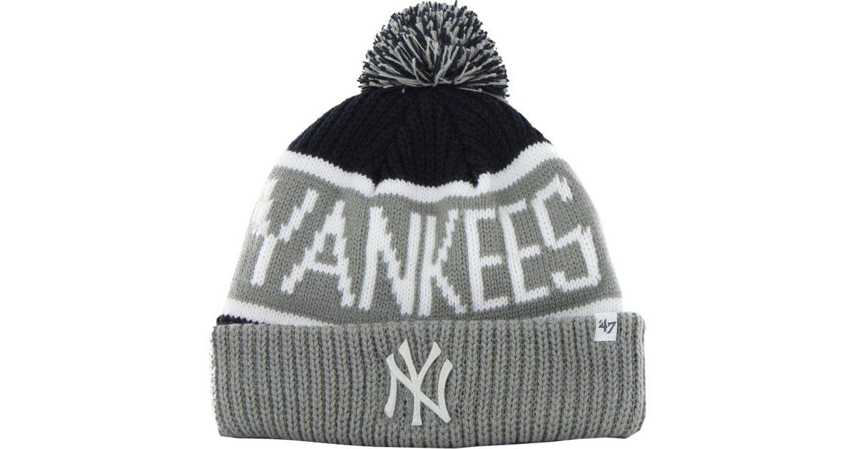 Herren-accessoires 47 Brand Knit Beanie Calgary New York Yankees Navy