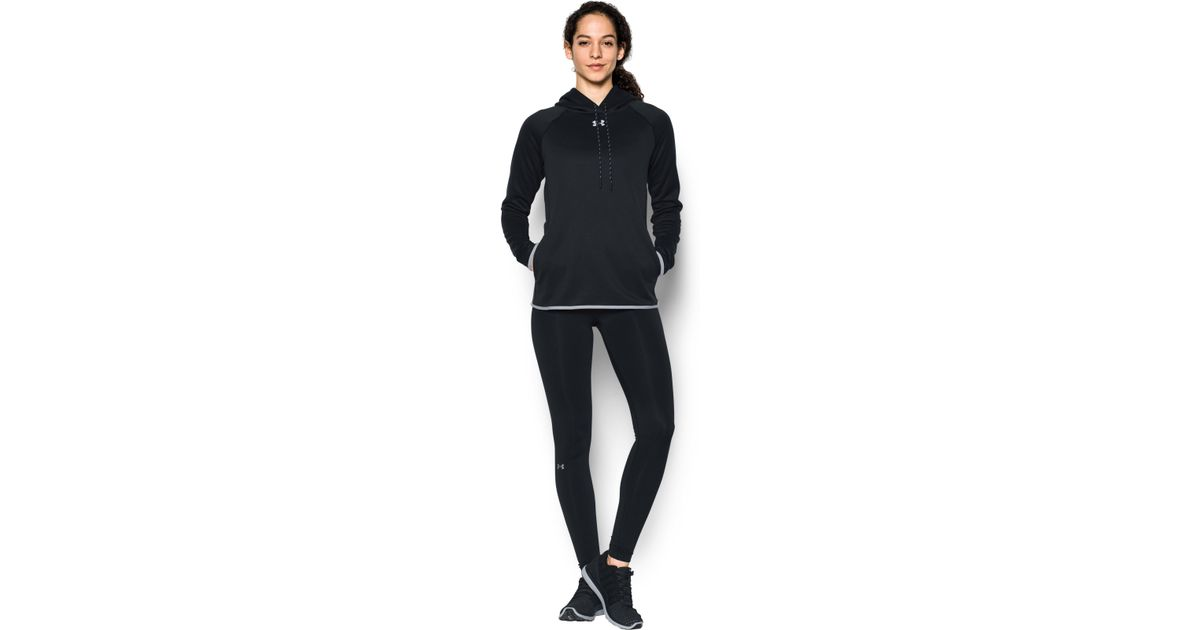8e069e7c2a57 Lyst - Under Armour Women s Ua Double Threat Armour® Fleece Hoodie in Black