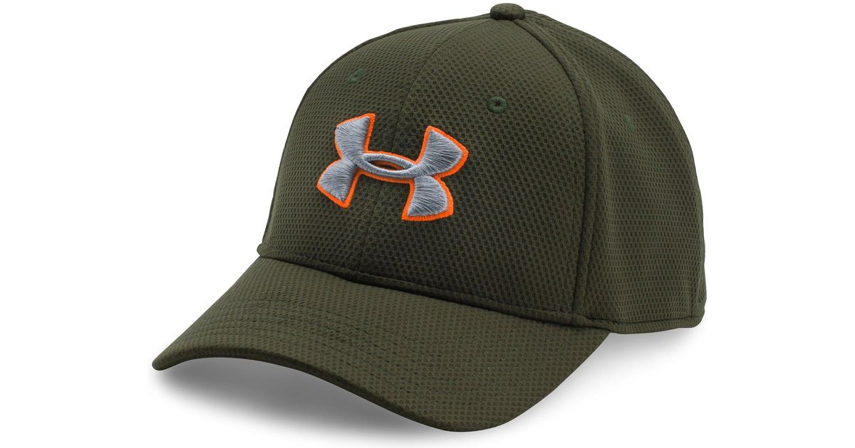 c372b90e1db Lyst - Under Armour Men s Ua Blitzing Ii Stretch Fit Cap in Green for Men