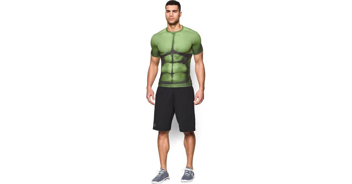 Lyst under armour men 39 s alter ego hulk compression for Hulk under armour compression shirt