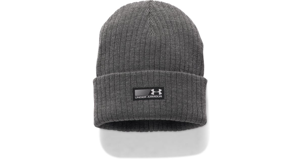 9fb1ac099e749 Lyst - Under Armour Men s Truck Stop Beanie in Gray for Men - Save 38%