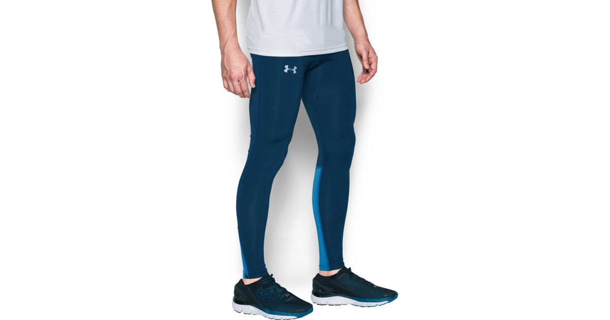 15c66f04b2 Under Armour Men's Ua No Breaks Run Leggings in Blue for Men - Lyst