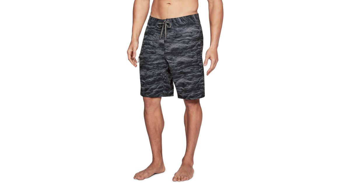 035adeb8317 Under Armour Men's Ua Stretch Printed Boardshorts in Gray for Men - Lyst