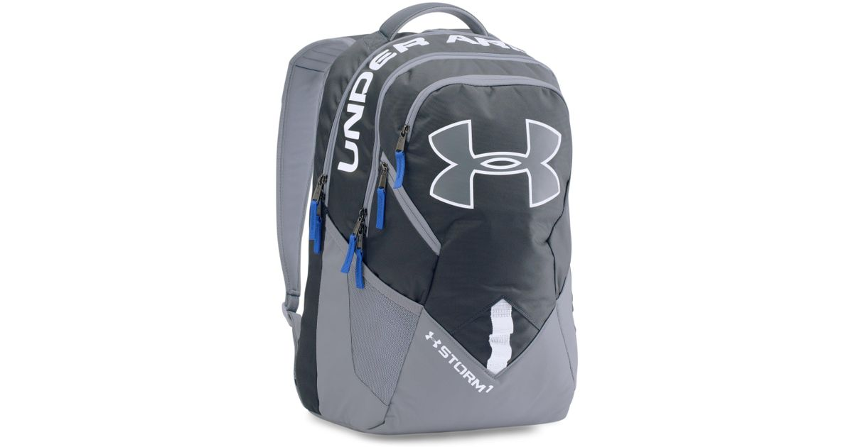 23aea8104c94 Lyst - Under Armour Ua Storm Big Logo Iv Backpack in Gray for Men