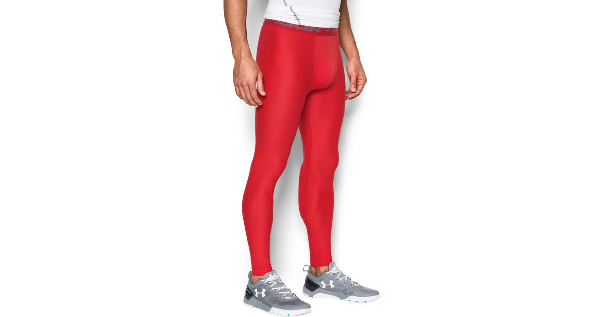 118c87a7a05dae Under Armour Heatgear® Compression Leggings in Red for Men - Lyst