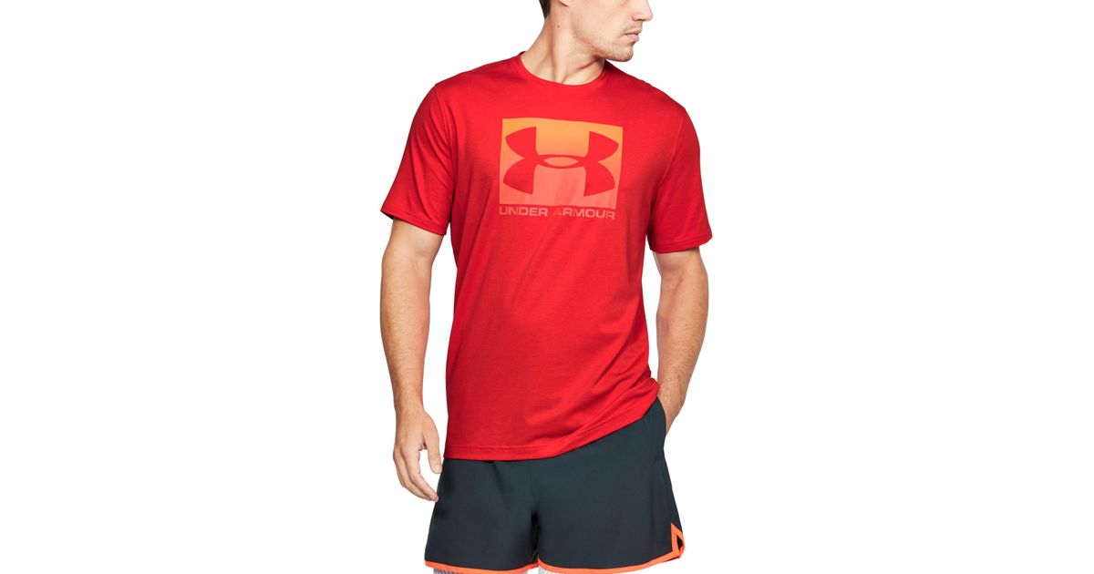 43a9ce67 Under Armour Men's Ua Boxed Sportstyle T-shirt in Red for Men - Lyst