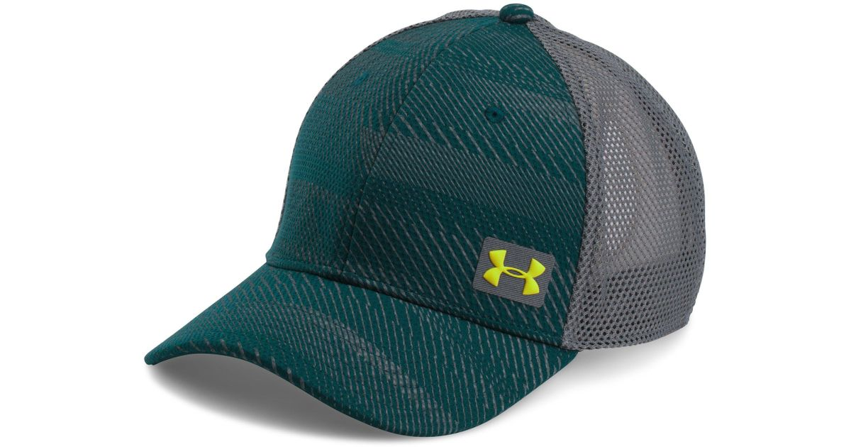 38d09f1bda5 Lyst - Under Armour Men s Ua Blitz Trucker Cap in Green for Men