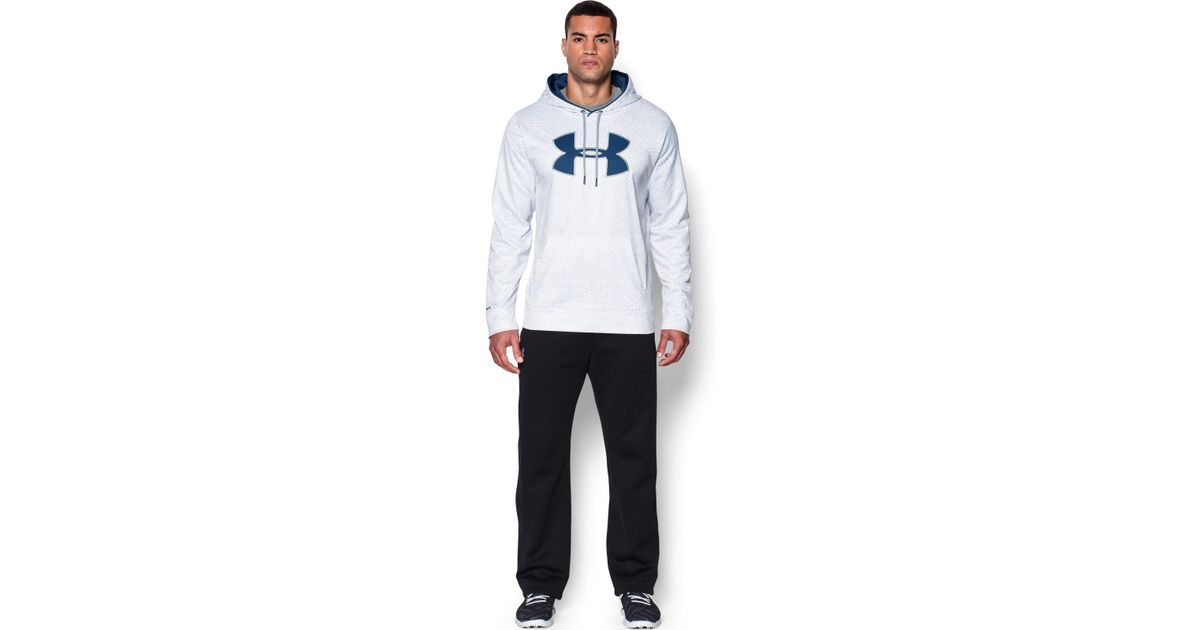 078cf8fd5a06 Lyst - Under Armour Men s Ua Storm Armour® Fleece Big Logo Printed Hoodie  in Blue for Men