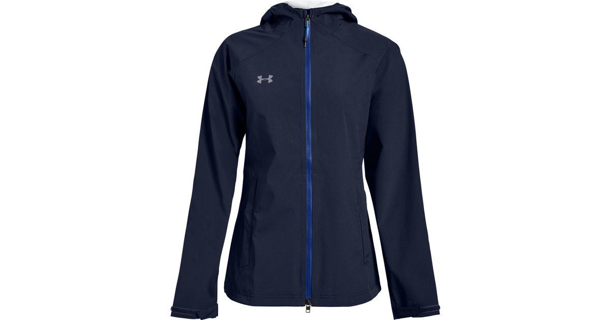f3fd2c0a4 Under Armour Women's Ua Storm Rain Jacket in Blue - Lyst
