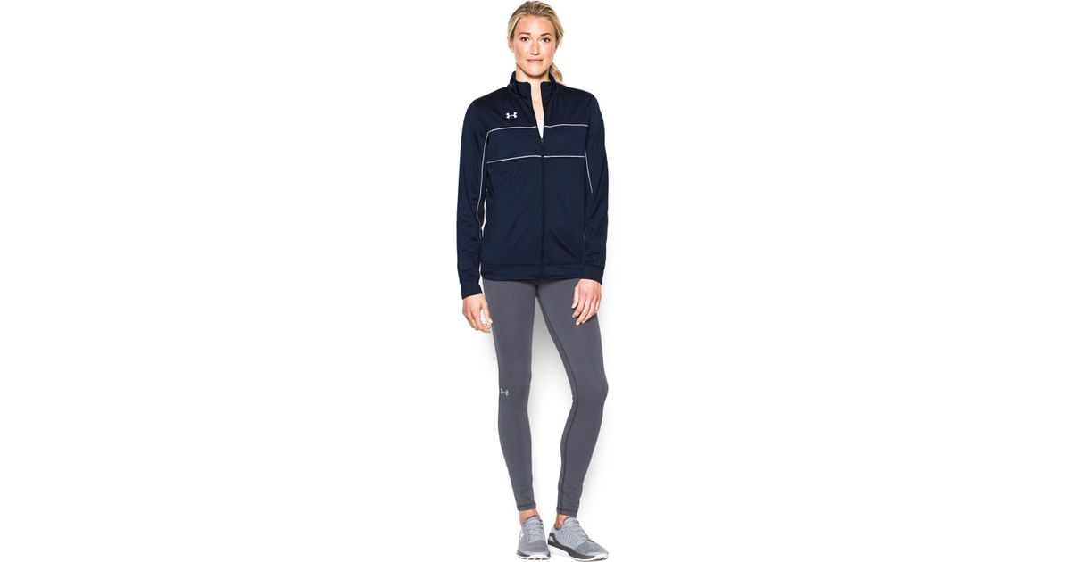 6ccdddc83 Under Armour Women's Ua Rival Knit Warm-up Jacket in Blue - Lyst