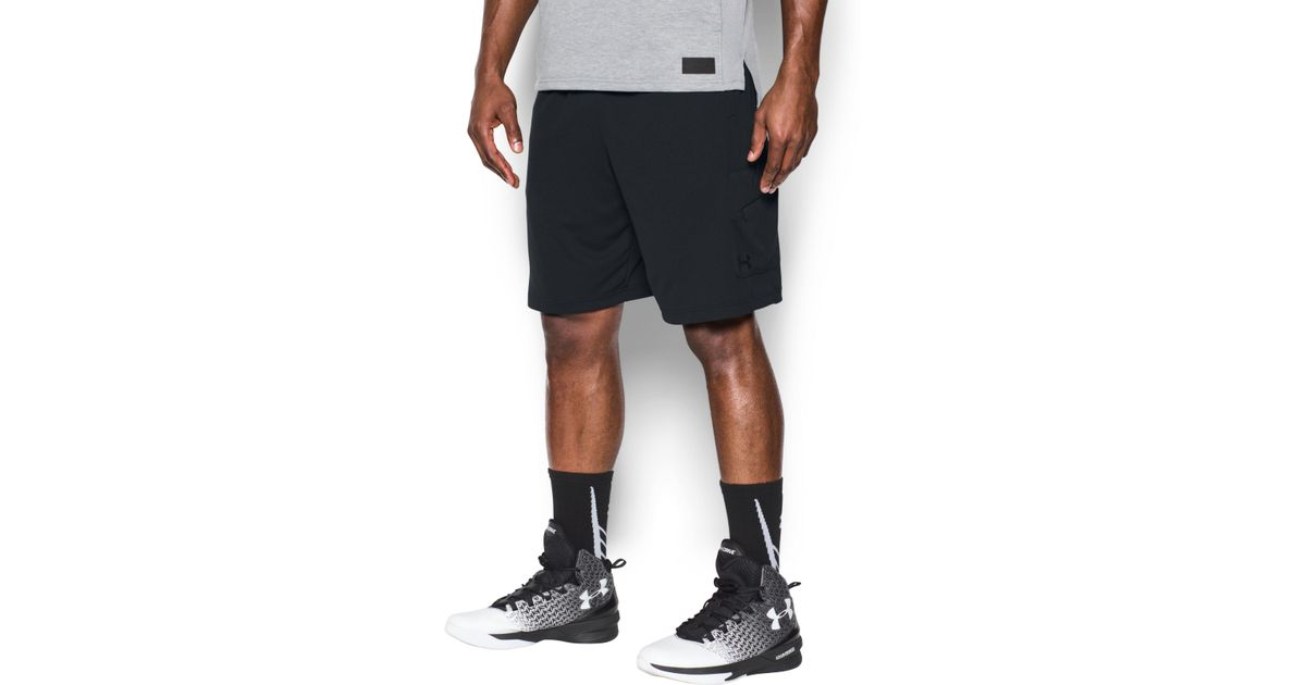 96f34323ba Under Armour Men's Ua Courtside Cargo Shorts in Black for Men - Lyst