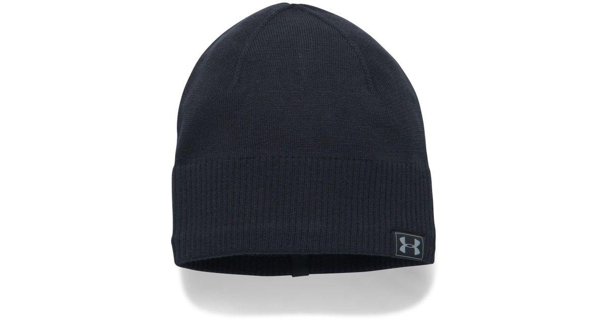 087842c5046 Lyst - Under Armour Men s Coldgear® Reactor Knit Beanie in Black for Men