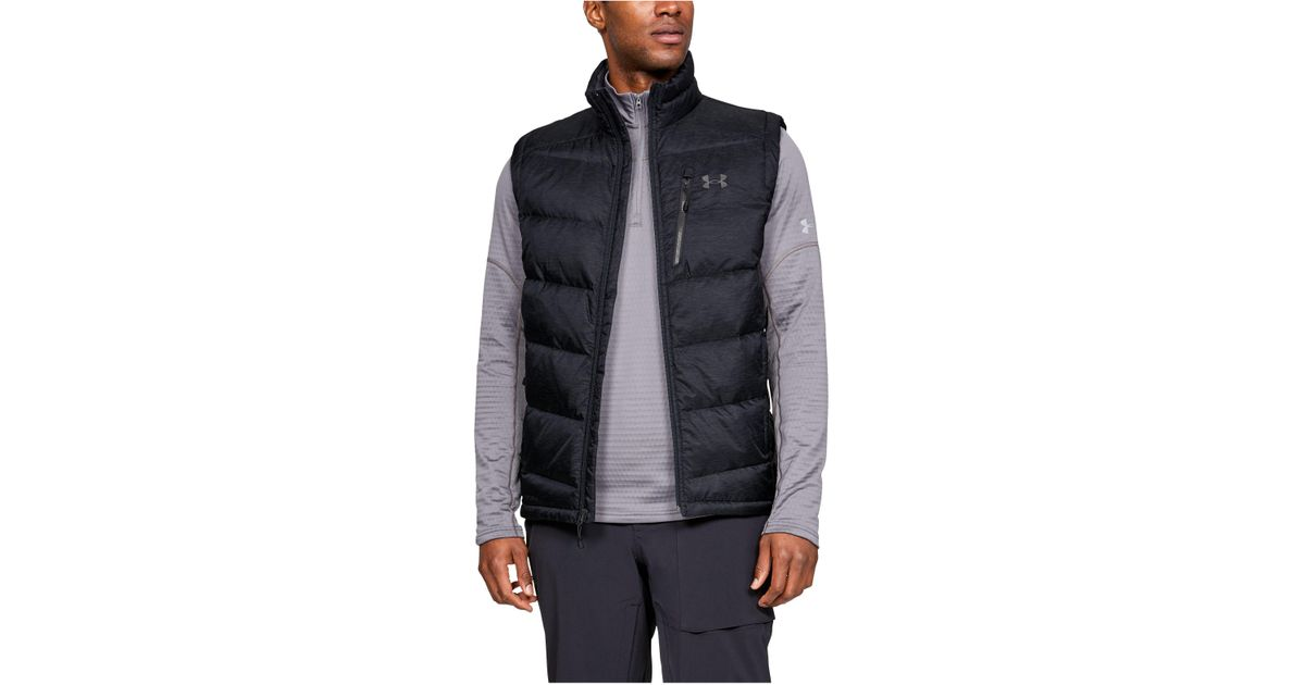a3701673dfca4 Under Armour Men's Ua Outerbound Down Vest in Black for Men - Lyst