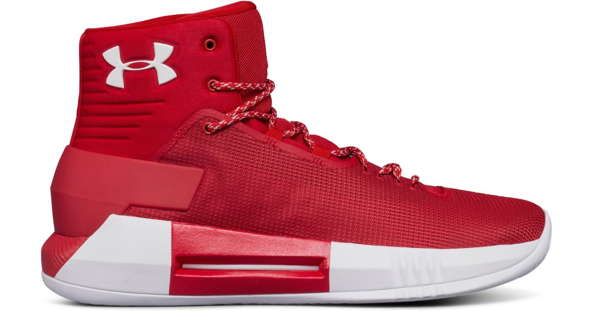 cf6cd2f19dbd Lyst - Under Armour Men s Ua Team Drive 4 Basketball Shoes in Red for Men