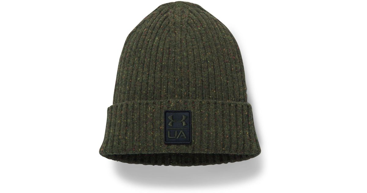 Lyst - Under Armour Men s Ua Hunt Wool Beanie in Green for Men c765742b00f