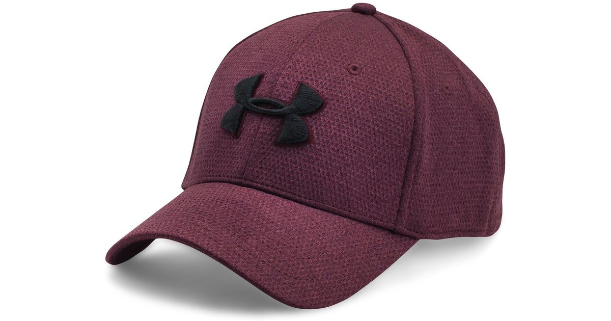 8161cfee762 ... 50% off lyst under armour mens ua heathered blitzing cap in red for men  f95b2