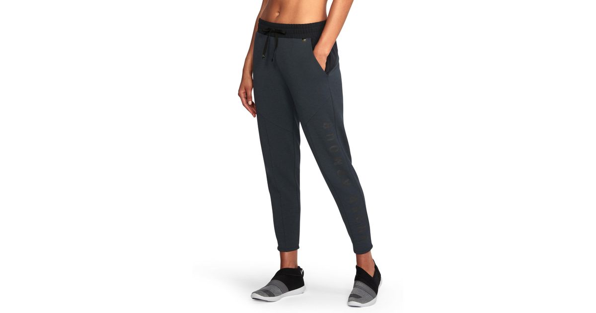 Lyst - Under Armour Women s Ua Unstoppable World s Greatest Knit Sweat  Pants in Black 5c64b0cbbd