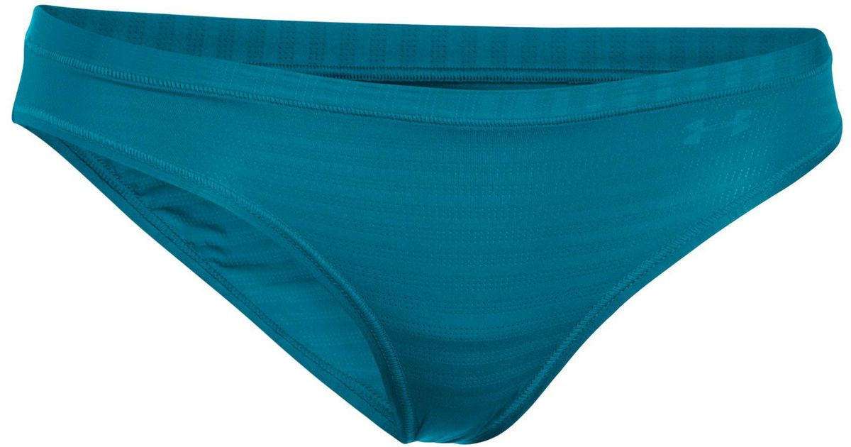 8c84fc2877 Under Armour Women's Ua Pure Stretch - Sheer Novelty Bikini 3 For $30 in  Blue - Lyst