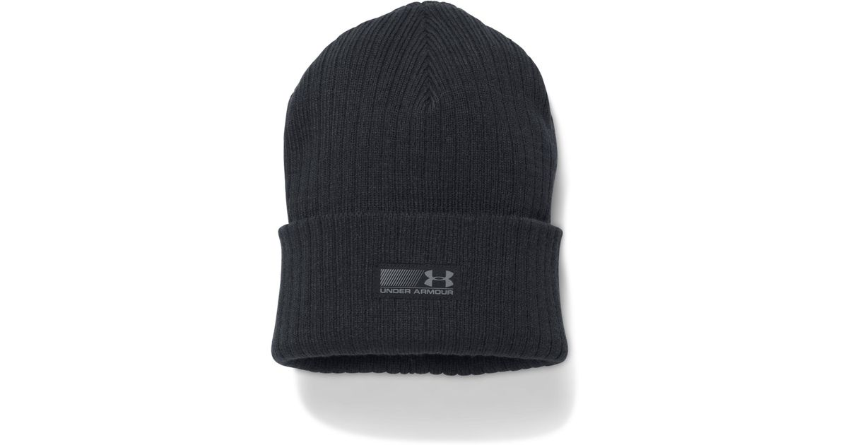 cd948e174b055a Under Armour Men's Ua Truck Stop Beanie in Black for Men - Lyst