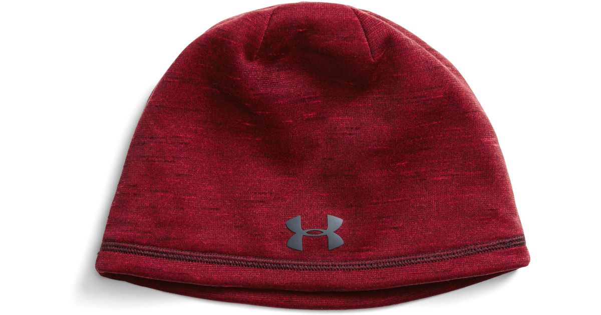 532978d64af Lyst - Under Armour Men s Coldgear® Reactor Elements Beanie in Red for Men