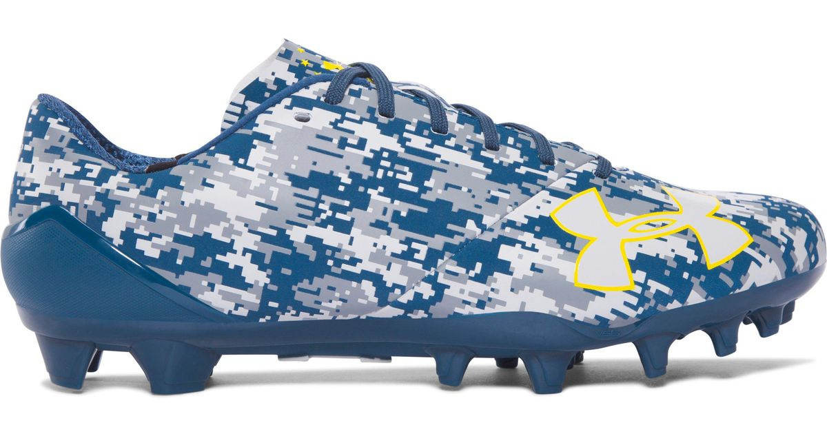 14e44ee6c Under Armour Men s Ua Spotlight – Limited Edition Football Cleats in Blue  for Men - Lyst