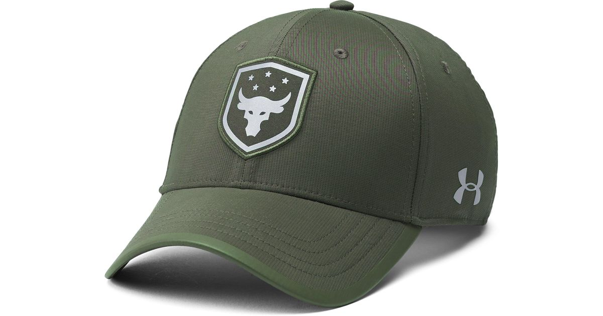 8f01b5d6eab Lyst - Under Armour Men s Ua X Project Rock Threadborne Training Cap in  Green for Men