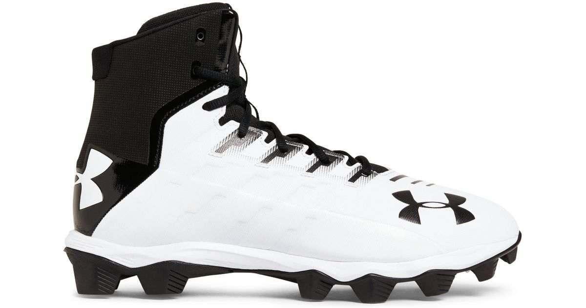 2899844c5fc Under Armour Renegade Rm Wide Football Shoe Black white 2e Us in Black for  Men - Lyst