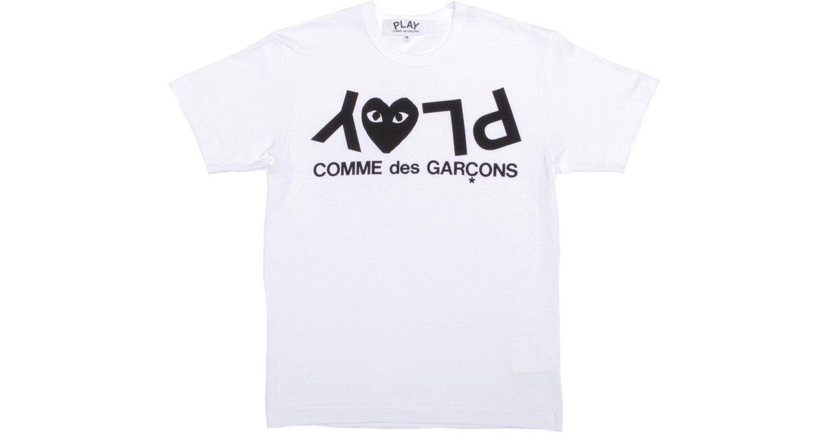 0c45a9b127d42 Lyst - COMME DES GARÇONS PLAY Upside Down Play T-shirt in White for Men