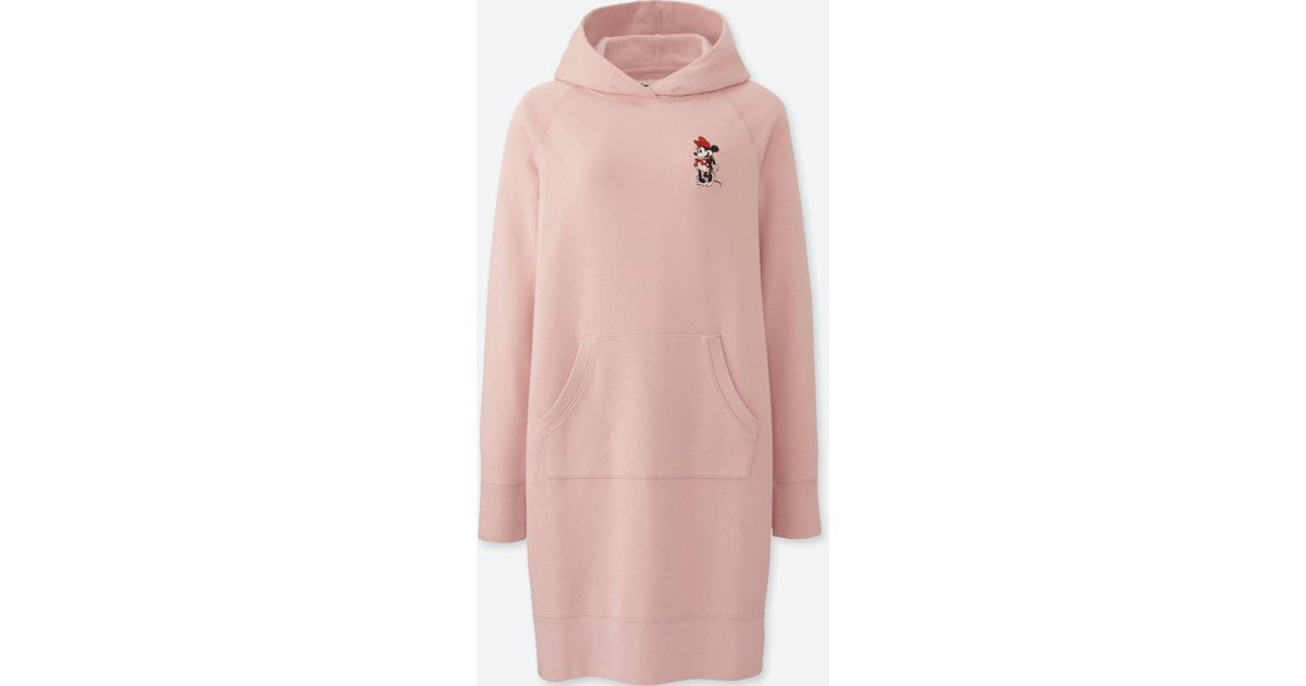 f95a0470688 Lyst - Uniqlo Women Mickey Stands Long-sleeve Sweatshirt Dress in Pink