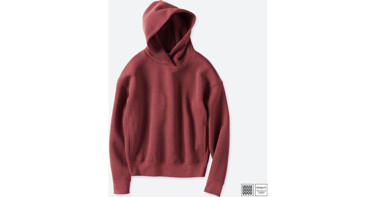 Lyst - Uniqlo Women U Wool-blend Long-sleeve Hooded Sweatshirt in Red 36d09a58d