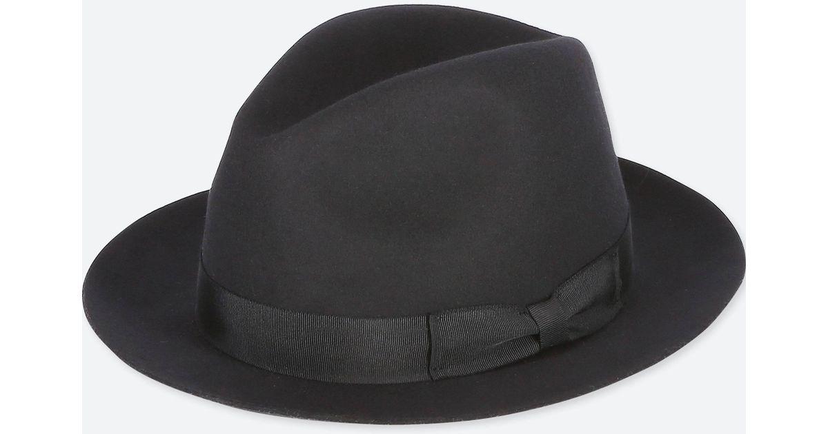Lyst - Uniqlo Men Wool Hat in Black for Men 51e75d354951