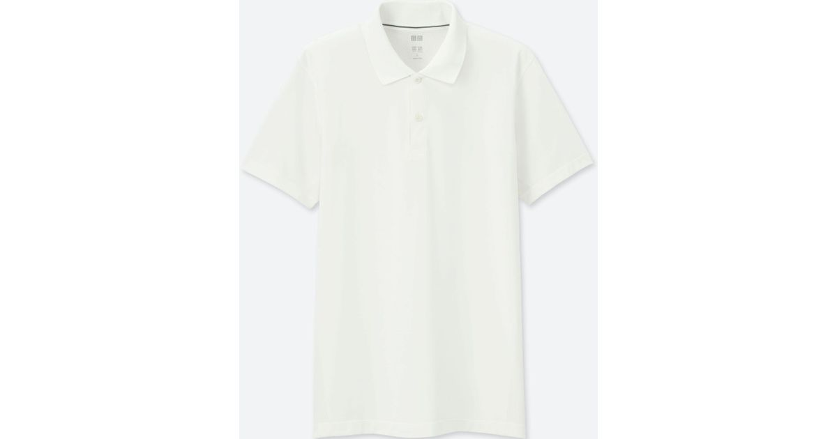 5091e671 Uniqlo Men Dry-ex Short-sleeve Polo Shirt in White for Men - Lyst