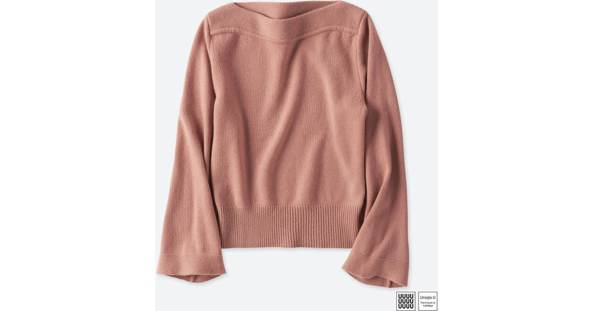 48e085fd8 Lyst - Uniqlo Women U Cashmere Blend Boat Neck Sweater