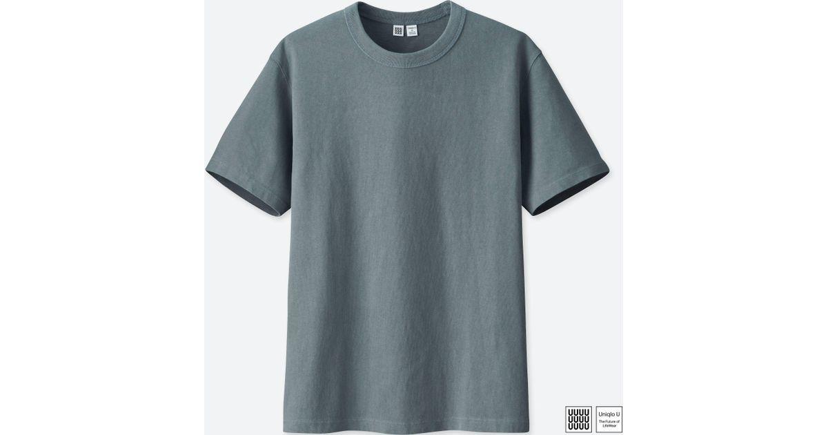 a63270b7b047 Lyst - Uniqlo Men U Crew Neck Short-sleeve T-shirt in Gray for Men
