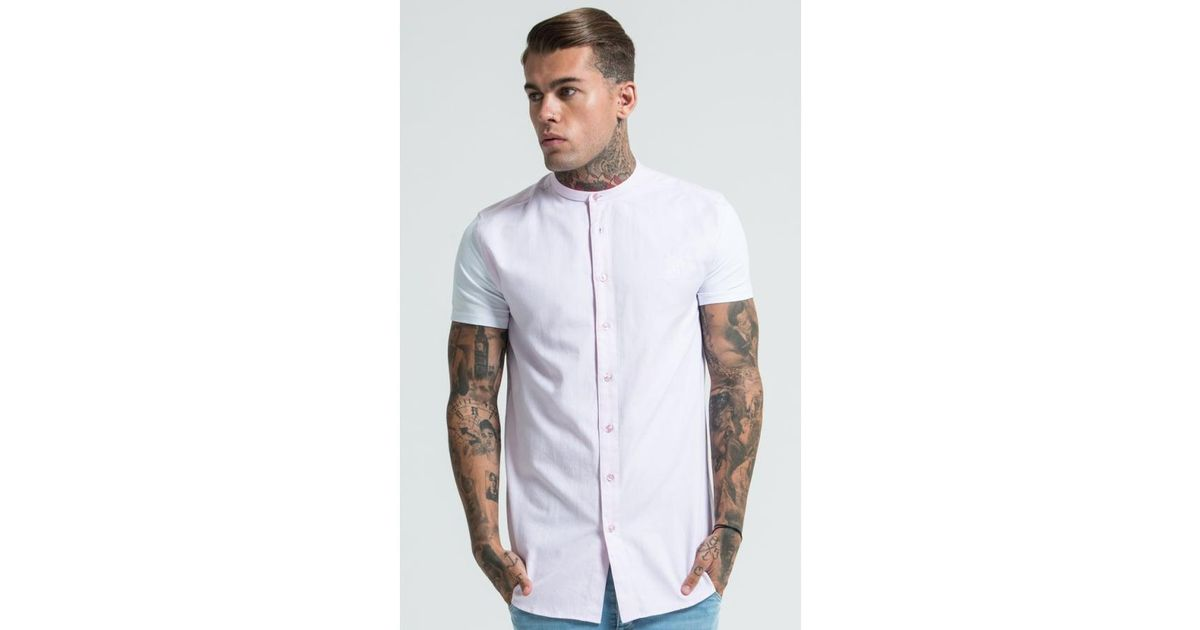 b68f9d1ef6b1 Lyst - Siksilk Jersey Short Sleeve Shirt With Contrast Sleeves in White for  Men
