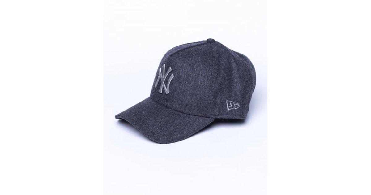 cd698c894f1 Lyst - KTZ Ny Yankees Melton Metal A Frame Trucker Cap in Black for Men