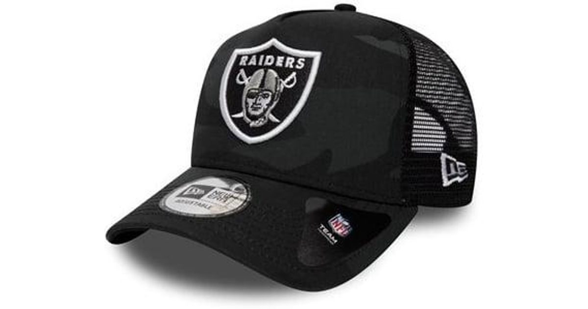 2bcbc1df84bbf KTZ Oakland Raiders Core Trucker Cap in Black for Men - Lyst