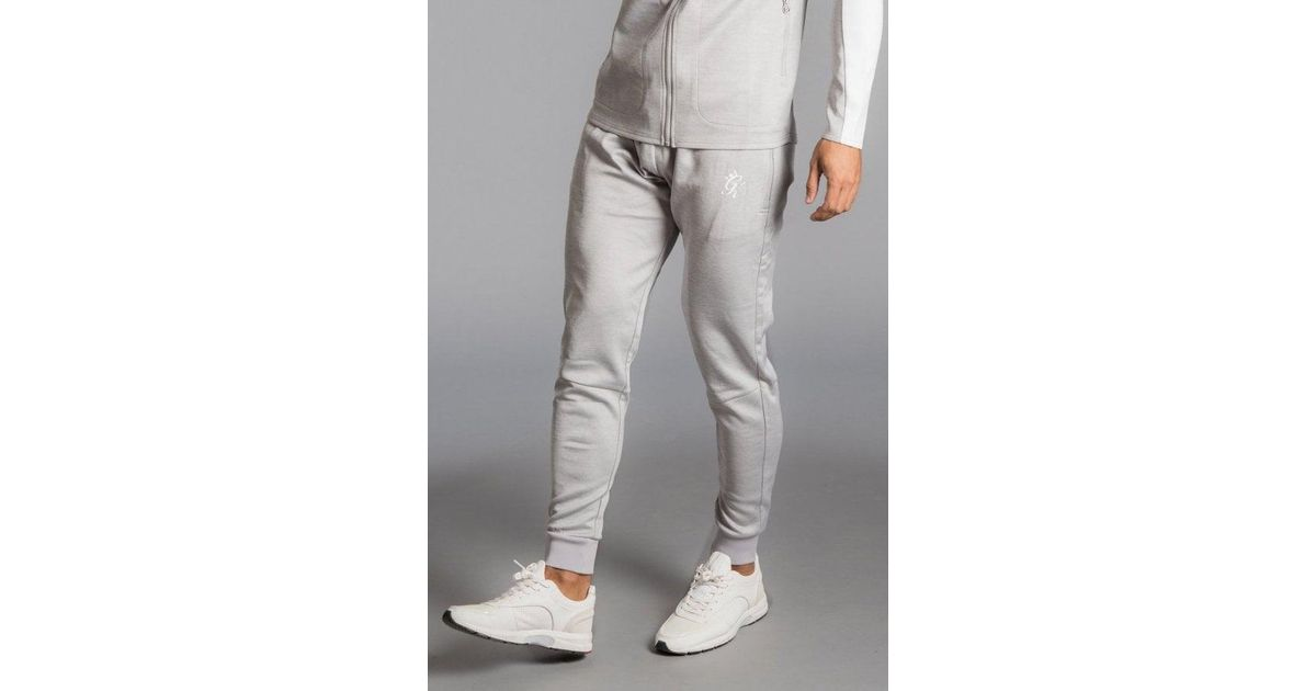 86c061cb891e46 Lyst - Gym King Capo Panel Poly Tracksuit Bottoms in Gray for Men