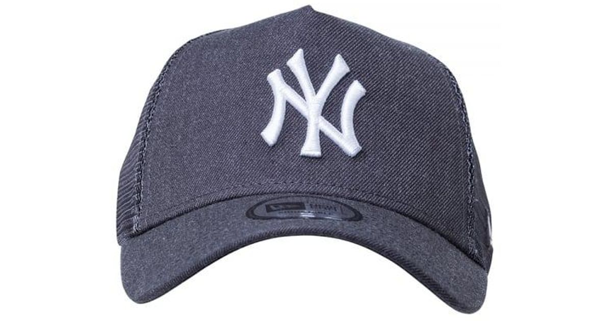 c314aa757bf Lyst - KTZ Ny Yankees Essential A Frame Trucker Cap- Heather Grey in Gray  for Men