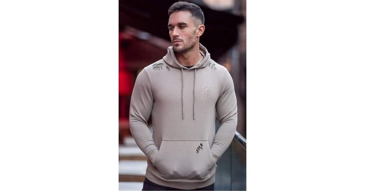 f19491c8 Gym King Pullover Distressed Hoodie for Men - Lyst
